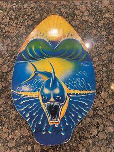 Skim Lizard Michael Searle Surf Board Skimboard Wood Shark Sunset -