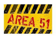 OVNI Zone 51 drôle panneau de porte Autocollant Décalque Graphique Vinyle