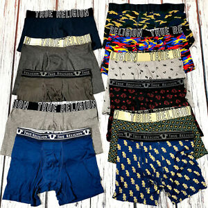 "Men's True Religion Boxer Shorts 4 Pack Premium Stretch Cotton Small 28-30"""