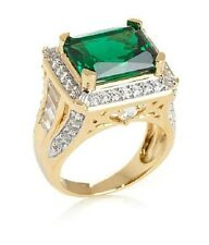 Victoria Wieck Vermeil Absolute & Radiant Cut Emerald Sterling Silver Ring  Sz 6