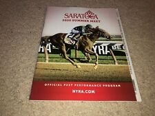 2020 SARATOGA TRAVERS STAKES HORSE RACING PROGRAM TIZ THE LAW RARE NO FANS