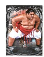 WWE Yokozuna #75 2015 Topps Undisputed Black Parallel Base Card SN 76 of 99