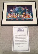 DISNEY MICKEY'S MAGICAL CHRISTMAS SNOWED In At The HOUSE OF MOUSE LITHOGRAPH LE