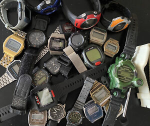 Vintage Digital Watch Lot Casio Timex Etc 2 LBS