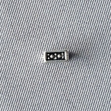 Antique Silver 5mm Decorative Dotted Square Spacer Beads Q50