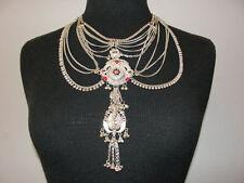 La Maharani Sterling Silver & Enamel Necklace