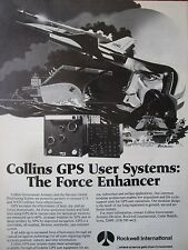7/1982 PUB ROCKWELL COLLINS GPS NAVSTAR SATELLITE US ARMY NAVY USAF ORIGINAL AD