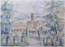 Hélène VOGT (1902-1994) Vue de Meknès Maroc aquarelle Victor Prouvé orientalisme