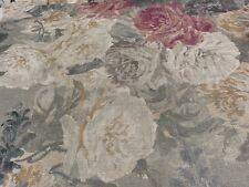 Zoffany Fabric 'ROSE ABSOLUTE LINEN' 2 METRES SUNSTONE/MERCURY - 100% Linen