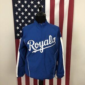 Medium Kansas City Royals majestic cool base windbreaker jacket men's KC 2e964p
