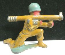 Vintage Manoil Lead Toy Soldier With Bazooka Cannon M-183
