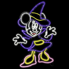 Halloween Haunted Disney 2.09 ft Tall LightGlo Minnie Mouse Witch Sculpture NIB