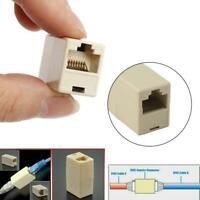 10PCS Network Ethernet Lan Cable Joiner Coupler Plug Connector RJ45 CAT 5 5E TY