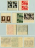 Russia USSR ☭ 1941 SC 845-849 Z 719-723 used pairs . d7462