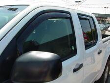 In-Channel Wind Deflectors for a 2005-2020 Nissan Frontier Crew Cab (4-Door)