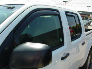 In-Channel Wind Deflectors for a 2005-2020 Nissan Frontier Crew Cab (4-Door)