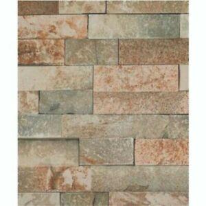 1M WIDE 3D Beige Brick pvc shower wall panels 10mm thick 2400 long