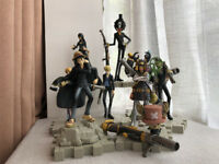 9PS/set One Piece Figure Black Armed Straw hat Pirates Luffy Nami Zoro Anime Toy