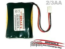 Akku 2/3AA 7.2V400mAh 3L, Stecker frei wählbar...