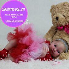 "Reborn fairy baby doll vinyl kit unpainted W/  FREE GIFT  Cute cupcake 15"""