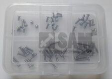 acciaio inox a2 NERO ISO 7380 con flangia M2 esagono interno Viti Set 50tlg