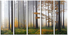 Large Autumn Forest Tree Canvas Print Wall Art Framed Ready to Hang Home Decor