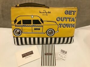 HENRI BENDEL LEATHER ABOUT TOWN TAXI POUCH, CLUTCH
