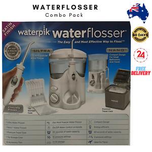 Waterpik Waterflosser Ultra and Nano Water Flosser + Travel Case Combo Pack 2021