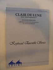 Claude Debussy Clair de Lune 2 pianos 4 hands 2nd piano improv by Sylvia Rabinof