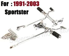 For Harley CHROME Forward Controls Pegs Levers Linkages Sportster 883 1200 91-03