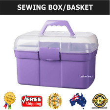 Plastic Sewing Box Thread Holder Container Storage Materials Organiser Case NEW