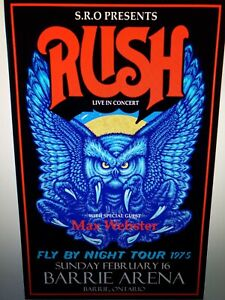 Rush Fly By Night Toronto Poster