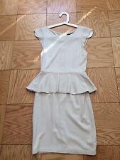 ALICE + OLIVIA PEPLUM EMPLOYED BEIGE DRESS SIZE 2