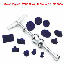 Auto Car Body Paintless Dent Repair Removal Tool Puller Lifter T-Bar w/ 12 Tabs