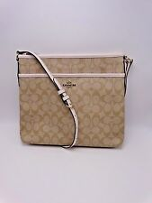 COACH SIGNATURE FILE BAG F58297 KHAKI & CHALK NEW WITH TAGS MSRP $225