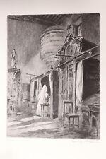 Beaune Hospices Hotel-Dieu Eau-forte originale par Henry Cheffer 1943 200 ex. 3