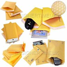 100 x A/000 Padded Gold Bubble Self seal Mailing Envelopes Bag100x165mm JL000/A