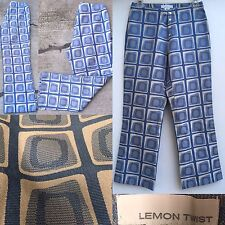 "Lemon Twist Pants Exposed 4 Snap Fly Sz S 27"" Waist (San Francisco Designer)"