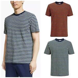 JOHN LEWIS Mens Suprima Cotton Striped T Shirt