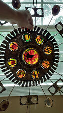 "VERY RARE VINTAGE 1967 CURTIS JERE' ""STAINED GLASS"" METAL ART WALL SCULPTURE"