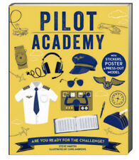 Pilot Academy by Steve Martin (pb) stickers, poster, press out model NEW