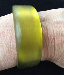Alexis Bittar Yellow Lucite Cuff Bracelet