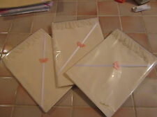 One Handmade Small Cream Cotton Mix Baby Sheet With Cream Lace Edging
