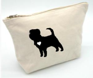 affenpinscher accessories bag make up toiletries cosmetics gift pouch