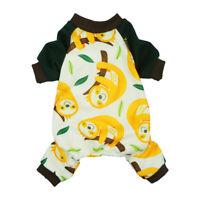Fitwarm Adorable Sloth Dog Pajamas Soft Pet Clothes Jumpsuit Comfy Shirt S M L