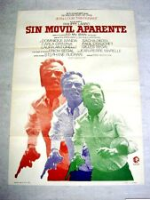 WITHOUT APPARENT MOTIVE Vintage Movie Poster JEAN-LOUIS TRINTIGNANT SACHA DISTEL