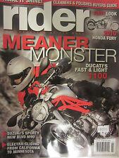 Rider Magazine March 2009 2010 Honda Fury Meaner Monster Ducati's Fast & Light