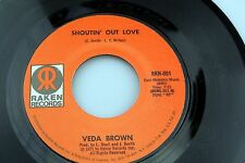 Veda Brown: Shoutin' Out Love / Brand New Tomorrow [NEW/Unplayed]