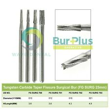 Wave Dental Oral Surgical Bur Tungsten Carbide Taper Fissure Midwest Fgos 25mm