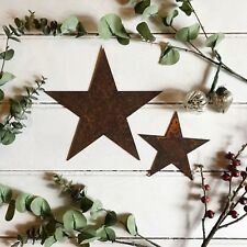 1 x 15cm Rusty Metal Small Star Iron Hanging Wall Garden Rustic Xmas Decoration